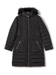 Precis Petite Gracie Fur Collar Coat Black
