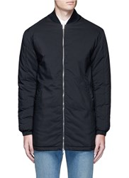 Mcq By Alexander Mcqueen Long Bomber Jacket Black