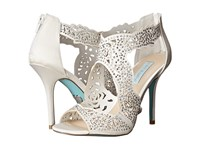 Blue By Betsey Johnson Livie Ivory Satin High Heels Bone