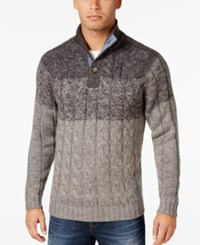 Weatherproof Vintage Men's Big And Tall Cable Knit Sweater Only At Macy's Grey Heather
