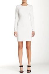 Yigal Azrouel Engineered Jacquard Knit Dress White
