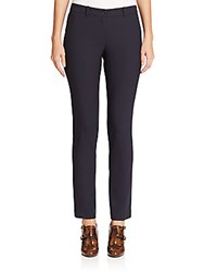 Michael Kors Samantha Stretch Wool Skinny Pants Navy