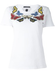 Alexander Mcqueen Embellished Butterfly T Shirt White