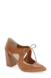 Seychelles Women's 'Dole' Pump Tan Leather