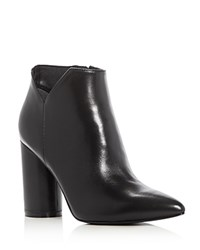 Sigerson Morrison Karlyle Pointed Toe High Heel Booties Black