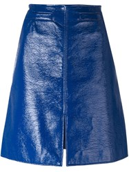 Courreges A Line Skirt Blue
