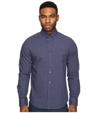 Ben Sherman Long Sleeve Gingham Mod Shirt Ma10113a Washed Blue Men's Long Sleeve Button Up Multi