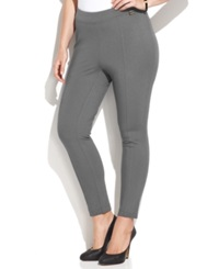 Calvin Klein Plus Size Pull On Skinny Ponte Pants Charocal