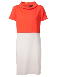 Piazza Sempione Colour Block Dress Yellow And Orange