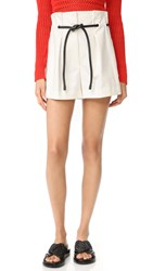 3.1 Phillip Lim Origami Pleated Shorts Antique White