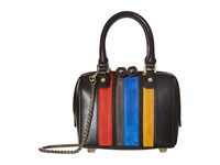 Alice Olivia Suede Vertical Stripe Mini Multi Handbags