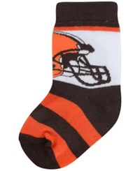 For Bare Feet Babies' Cleveland Browns Stripe Socks