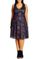 City Chic Plus Size Women's Rose Garden Fit And Flare Dress