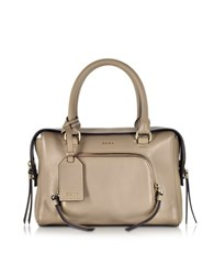 Dkny Greenwich Natural Leather Small Satchel Bag