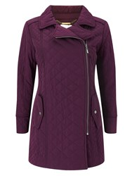 Eastex Asymmetric Padded Coat Purple