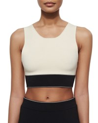Rag And Bone Rag And Bone Regina Colorblock Crop Top Size L Fog