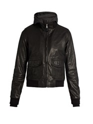 R 13 Hooded Flight Jacket Black