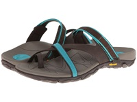 Vionic With Orthaheel Technology Mojave Vionic Sport Recovery Toepost Sandal Chocolate Teal Women's Shoes Brown