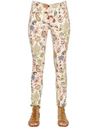 Etro Paisley Printed Cotton Denim Jeans
