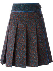 Coach Floral Print Midi Skirt Multicolour
