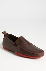 Men's Michael Toschi 'Onda Se' Driving Shoe Chocolate Red Sole