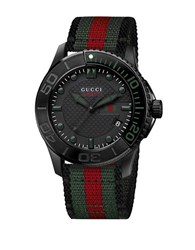 Gucci Mens Timeless Sports Watch Black