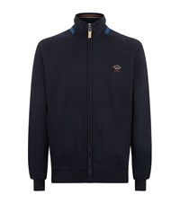 Paul And Shark Classic Logo Zip Sweater Male Navy