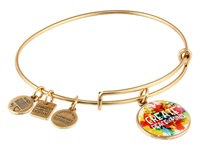 Alex And Ani Peace Of Mind Charm Bangle Rafaelian Gold Finish Bracelet