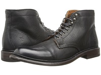 Frye Jack Lace Up Black Buffalo Leather Men's Lace Up Boots