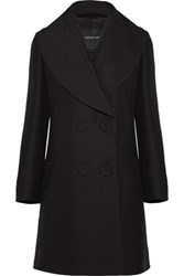 Derek Lam Wool And Silk Blend Coat Black