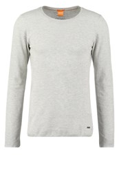 Boss Orange Terris Slim Fit Long Sleeved Top Light Pastel Grey Mottled Light Grey