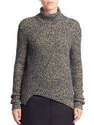 Marc By Marc Jacobs Asymmetrical Turtleneck Sweater Sulphur Multi