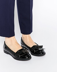 New Look Patent Flat Loafer Black