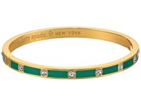 Kate Spade Set In Stone Enamel Stone Hinged Bangle Clear Emerald Bracelet Green