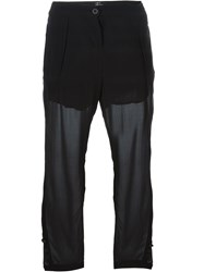Lost And Found Sheer Tapered Trousers Black