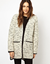 Asos Light Weight Coat With Stepped Hem