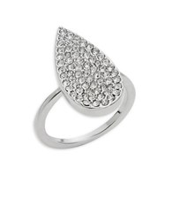 Michela Teardrop Cocktail Ring Silver