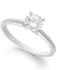 Macy's Diamond Solitaire Engagement Ring In 14K White Gold 1 Ct. T.W.