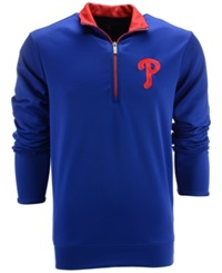 Antigua Men's Philadelphia Phillies Leader Pullover Royalblue Red