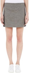 Edun Colorblock Mini Skirt Grey