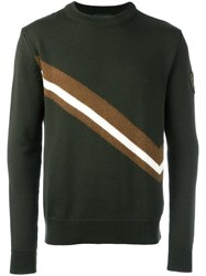 Rossignol Diagonal Stripe Jumper Green