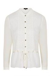 Lucid Dreams Ivory Blouse With Metal Eyelets By Goldie