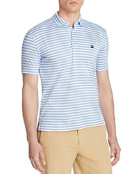 Brooks Brothers Stripe Slim Fit Polo Shirt Blue White