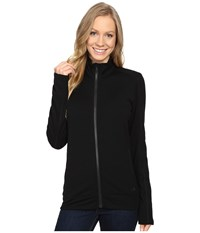 Icebreaker Dia Long Sleeve Zip Black Black Black Women's Clothing