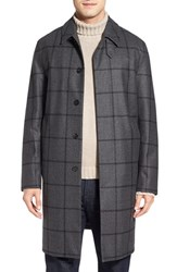 Mackintosh Men's Windowpane Wool Single Breasted Long Coat