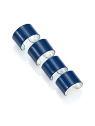 Maison Martin Margiela Knuckle Duster Four Band Ring Set Matte Navy Silver Blue