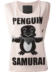 Philipp Plein Penguin Samurai T Shirt Pink And Purple