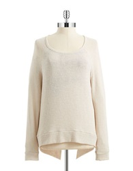 Casual Couture By Green Envelope Layered Effect Sweater Taupe