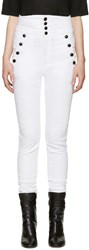 Isabel Marant White High Rise Marvin Jeans