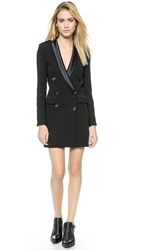 Rachel Zoe Longsleeve Tux Dress Black